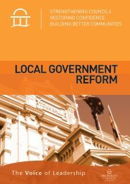 lOCAl gOvernment reFOrm - Property Council of Australia