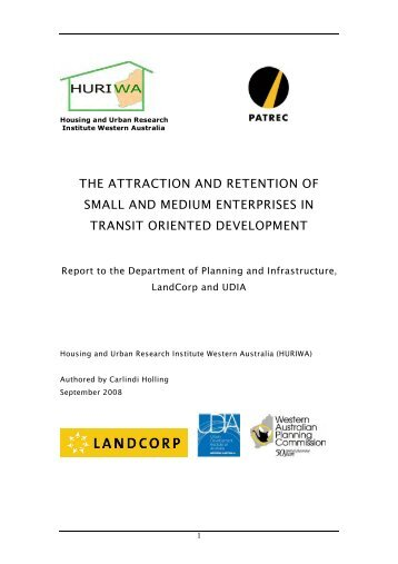 The Attraction and Retention of Small and Medium Enterprises in ...