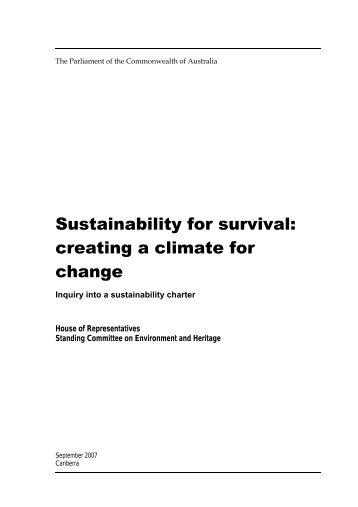 Sustainability charter report - Property Council of Australia