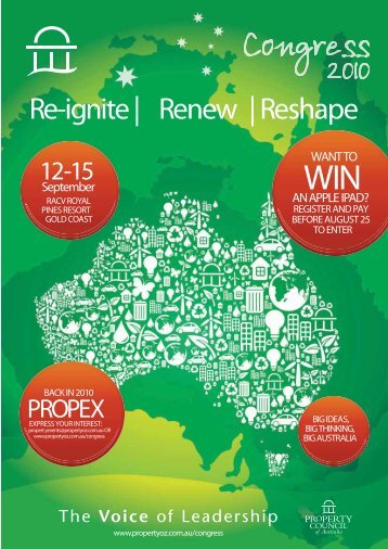 Re-ignite   Renew   Reshape - Property Council of Australia