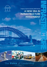 a new era in infrastructure investment - Property Council of Australia