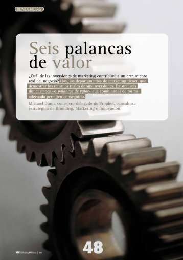 Download the PDF - Seis palancas de valor - Prophet