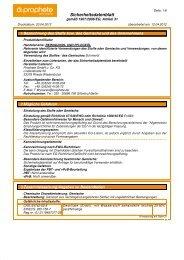 Sicherheitsdatenblatt 6849/6850 Reinigungs und Pflegeöl - Prophete