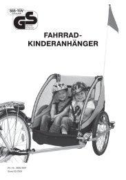 FAHRRAD- KINDERANHÄNGER - Prophete