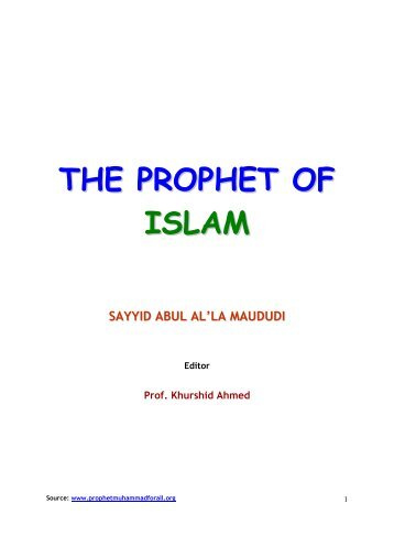THE PROPHET OF ISLAM - Prophet Muhammad (SAW) for All