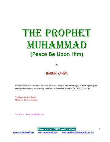 the prophet muhammad (saas) - Prophet Muhammad (SAW) for All