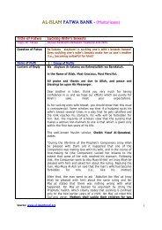 AL-ISLAM FATWA BANK - - Prophet Muhammad (SAW) for All