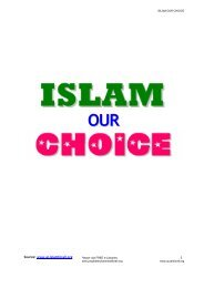 ISLAM our CHOICE - Prophet Muhammad (SAW) for All