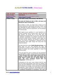AL-ISLAM FATWA BANK - (Marital issues) - al-islam for all