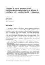 Pesquisas de uso do tempo no Brasil: contribuições para a ... - Proppi