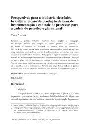 Perspectivas para a indústria eletrônica brasileira: o caso ... - Proppi