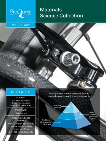Materials Science Collection Datasheet (PDF) - ProQuest.com