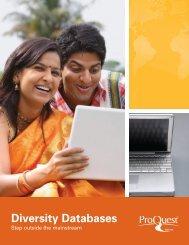 ProQuest - Diversity Database Brochure (PDF)
