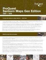 ProQuest - Sanborn Maps Geo Edition Brochure (PDF)