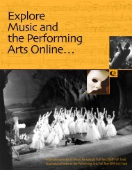 International Index to Music Periodicals Full Text - ProQuest