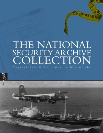 ProQuest - National Security Archive Collection Brochure (PDF)