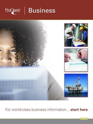 ProQuest - Business Resources Catalog (PDF)
