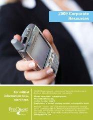 ProQuest - Corporate Resources Catalog (PDF)