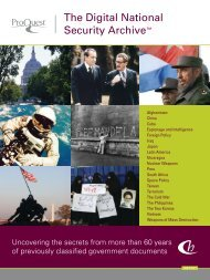 ProQuest - Digital National Security Archive Brochure   (English UK ...