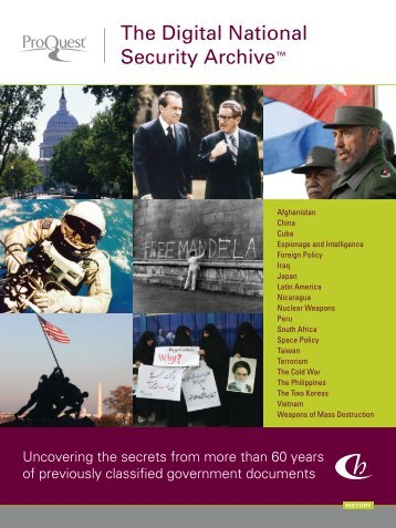 ProQuest - Digital National Security Archive Brochure | (English UK ...
