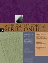 ProQuest - American Periodicals Series Online Brochure (PDF)