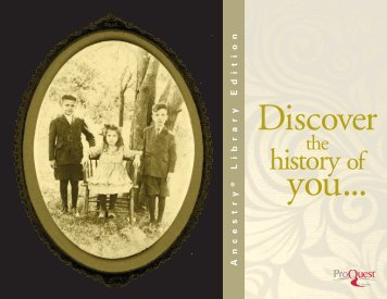 ProQuest - Ancestry Library Edition Brochure (PDF)