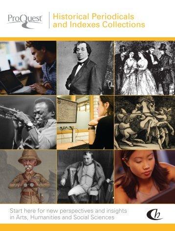 ProQuest - Historical Periodicals & Indexes Catalog (PDF)