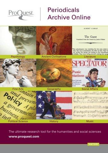 ProQuest - Periodicals Archive Online Brochure (PDF)