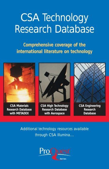 ProQuest - Technology Research Brochure (PDF)