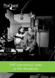 ProQuest - FIAF International Index to Film Periodicals | User Guide ...
