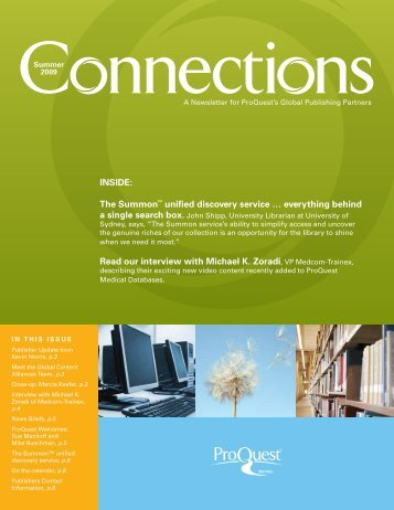 ProQuest - Connections Newsletter (PDF)