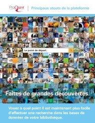 ProQuest - New Platform Brochure | French Canadian (PDF)