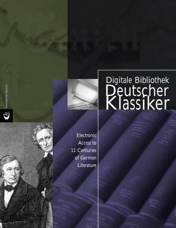 ProQuest - Deutscher Klassiker Brochure (PDF)