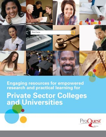 Private Sector Colleges and Universities Catalog (PDF) - ProQuest