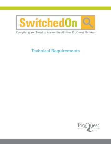 ProQuest - Technical Requirements New Platform | (PDF)