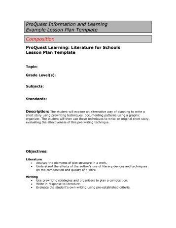 example of lesson plan template