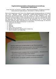 Protokoll der Infoveranstaltung - pro regio ag