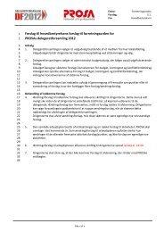 Forslag til hovedbestyrelsens forslag til forretningsorden for ... - Prosa