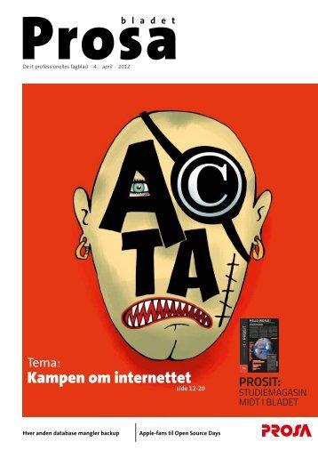 Tema: Kampen om internettet - Prosa