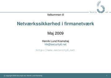 Netværkssikkerhed i firmanetværk - Prosa