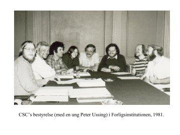 CSC's bestyrelse (med en ung Peter Ussing) i ... - Prosa