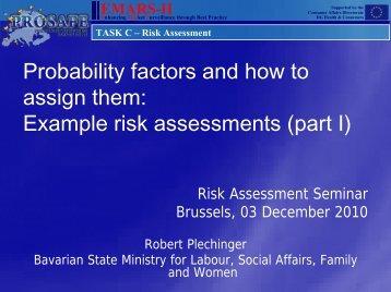 TASK C – Risk Assessment - Prosafe
