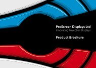 ProScreen Displays Ltd Product Brochure - Projection Screens Ltd