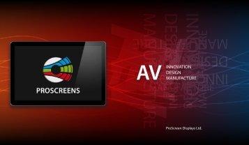 BROCHURE - PRO SCREENS - Projection Screens Ltd