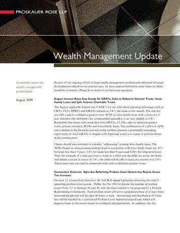 Wealth Management Update - Proskauer Rose LLP