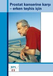 Prostat kanserine karşı – erken teşhis için - Prostata.de