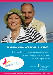 Maintaining Your Well-Being - Prostate Cancer Foundation of Australia
