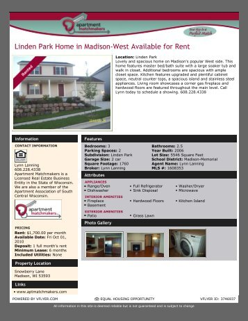 Spacious Linden Park Home on Madison's West Side