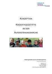 Konzeption - Diakonisches Werk Bamberg - Forchheim ev