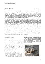 Rapport PSA sur les zoos 2012, Zoo Basel - Protection Suisse des ...